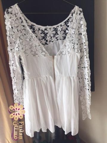 فستان ابيض قصير