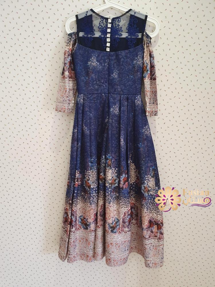 فستان ازرق جديد