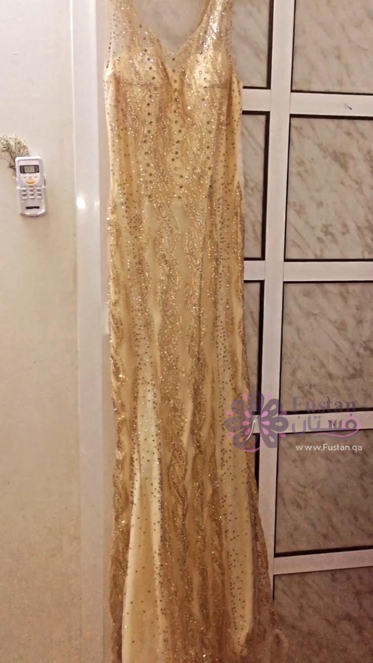 فستان سهره ذهبي