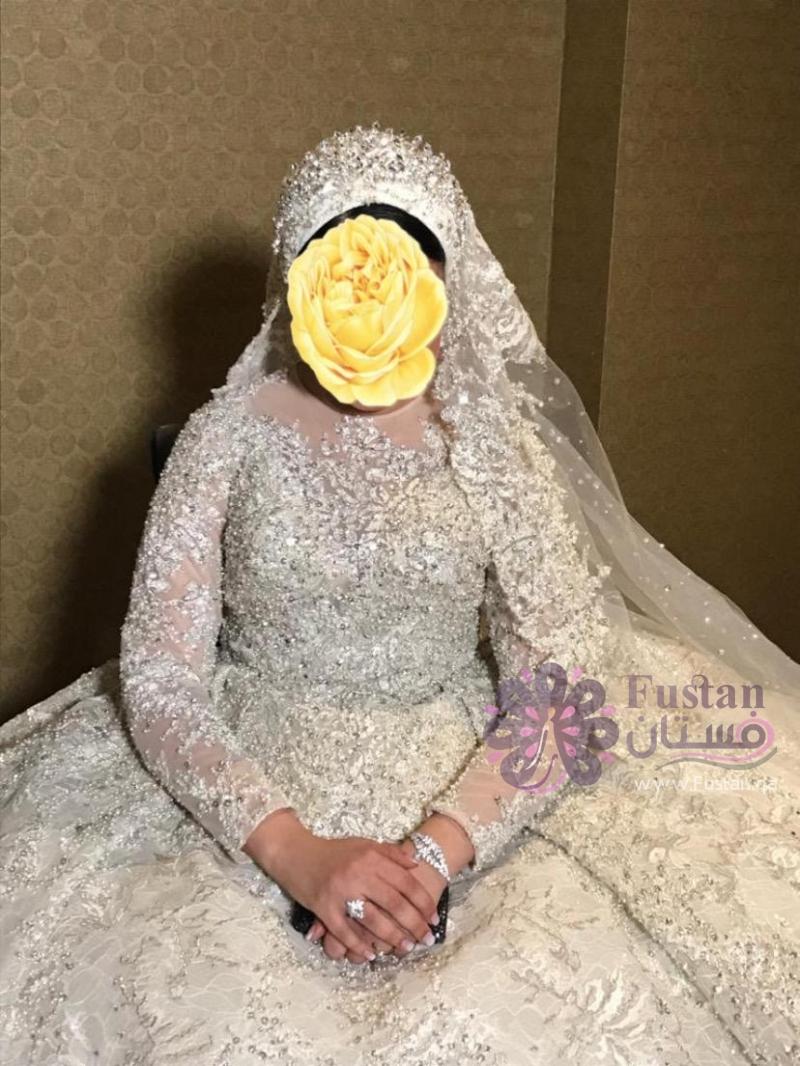 فستان زفاف تصميم لبناني فخم