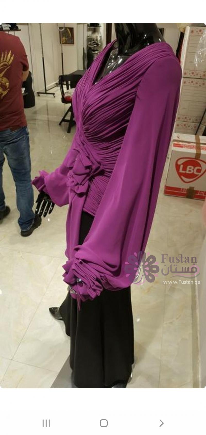 فستان سهرة طويل  للمحجبات
