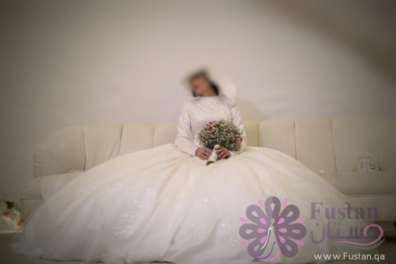 فستان زفاف تفصيل تركي راقي