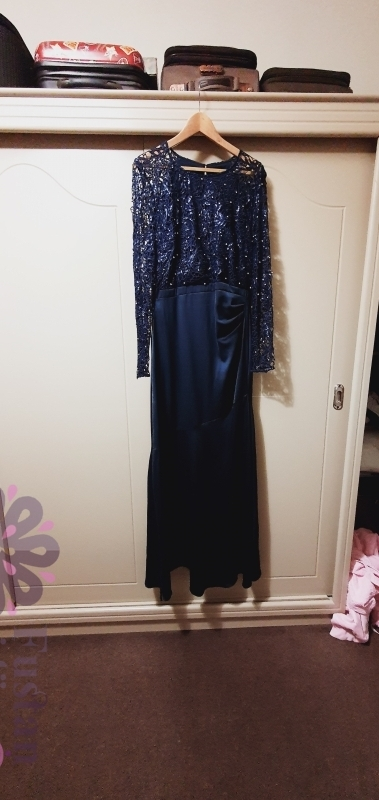 فستان طويل ازرق غامق