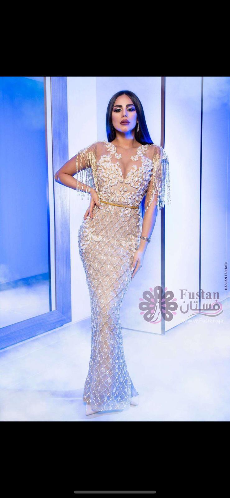 فستان سهرة كلاسيكي- تصميم طاهر باقر