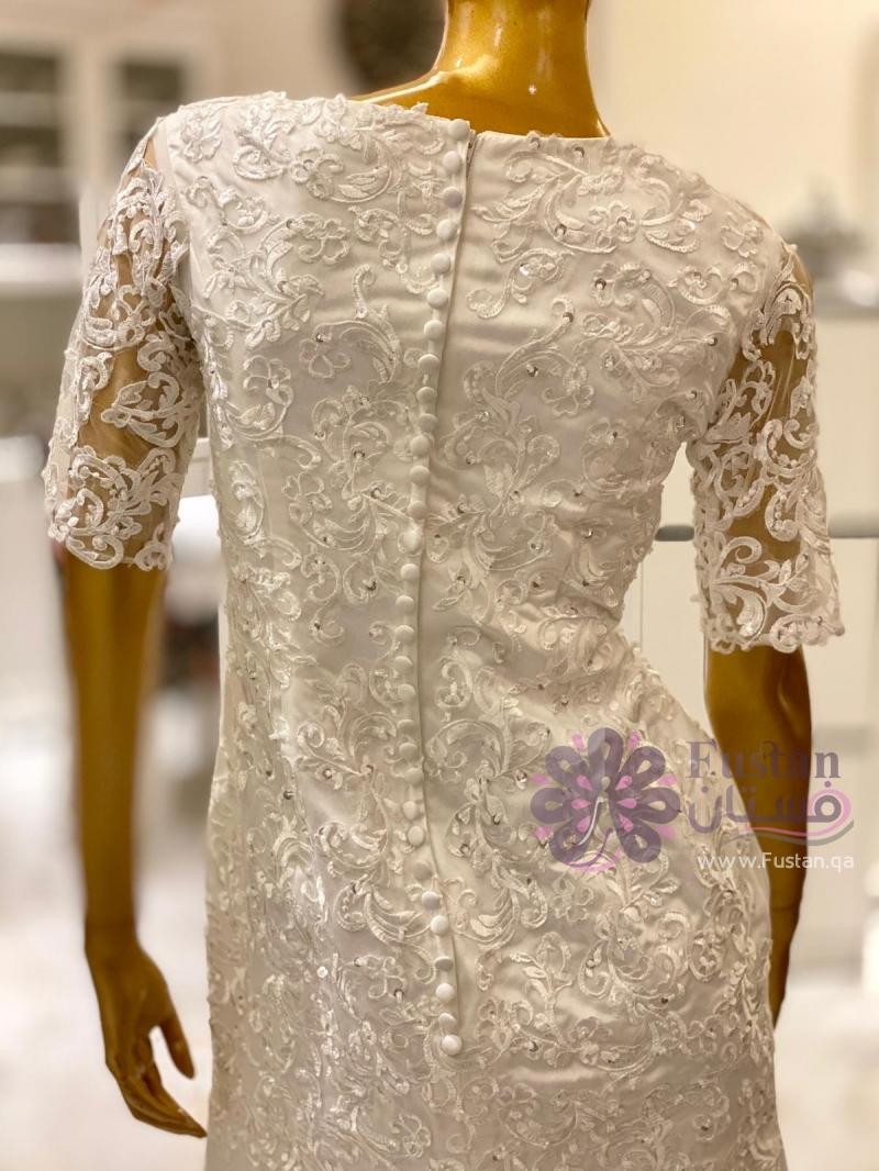 فستان زفاف قطعتين تركي
