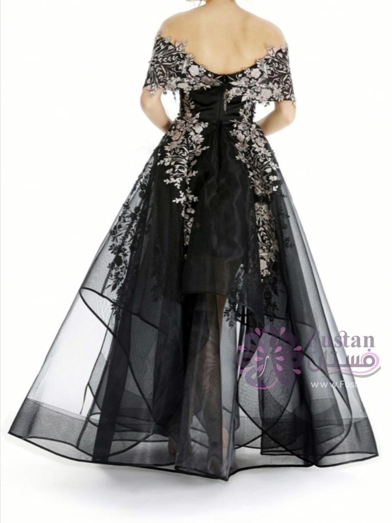 فستان سهرة ملوكي دانتيل