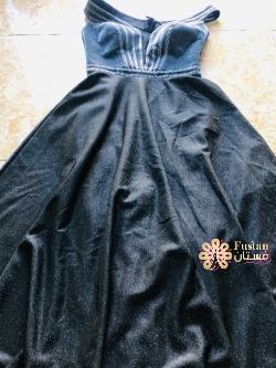 فستان فضي طويل وماكسي