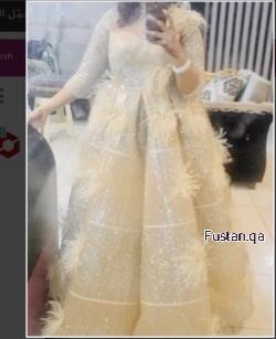 فستان للبيع او الايجار تصميم كواترو