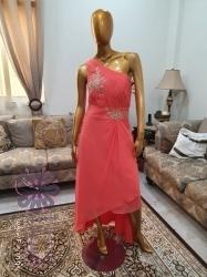 فستان حفلة لون بطيخي