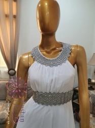 فستان سهرة ابيض