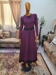 فستان سهرة بكم طويل