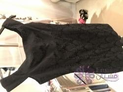 Black Suite Blanco Off shoulder Dress