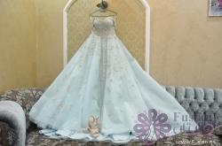 فستان خطوبة سماوي فاتح