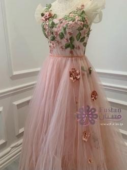 فستان وردي