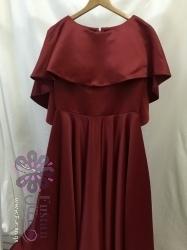 فستان احمر جذاب وفخم