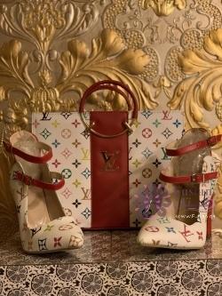 حذاء وشنطه ماركه لويس فيتون ( صناعه تركيه )
