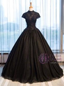 فستان اسود فخم وانيق