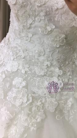 فستان عرس ملوكي من تصميم دار الأزياء  Oleg Cassini (صنع في تركيا)