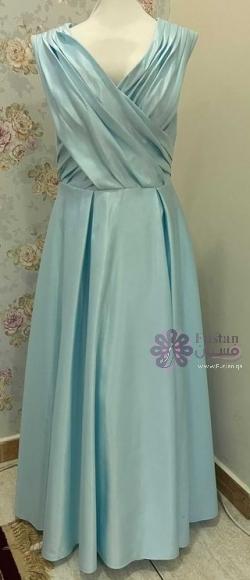 فستان سهرة ملوكي ازرق