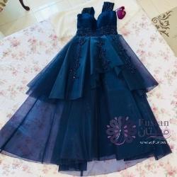 فستان سهرة فاخر وراقي