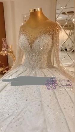 فستان عرس كريستال لامع