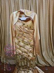 فستان ذهبي