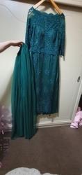 فستان طويل تركوازي للحفلات و ألاعراس