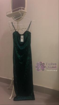 Velvety green dress