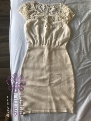 فستان أبيض ناعم