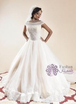 فستان عروس ملكي مستورد من جدة