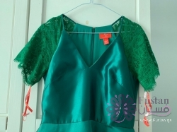 فستان طويل اخضر