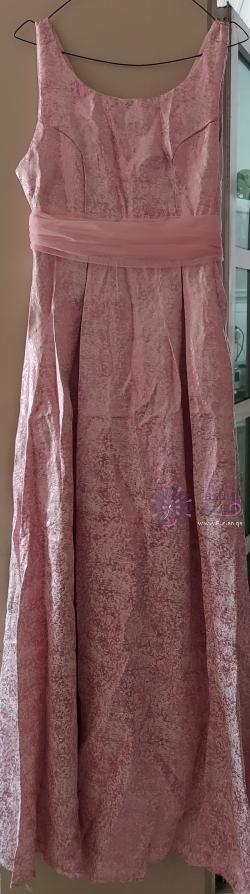 فستان سهرة زهري مقاس صغير إلى متوسط