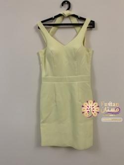فستان اصفر قصير