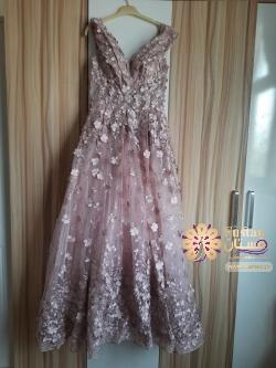 فستان زهري انيق